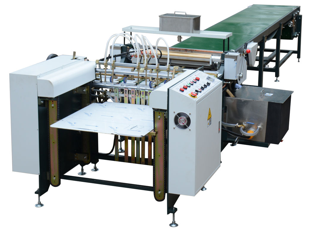 Paper Gluing Automatic Gluing Machine White Color For Book Cover