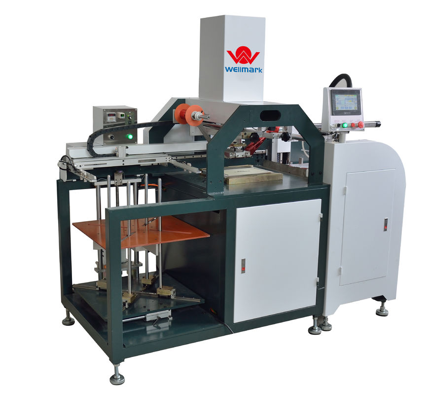 Automatic Hot Stamping Machine Feeding Paper By Feeder